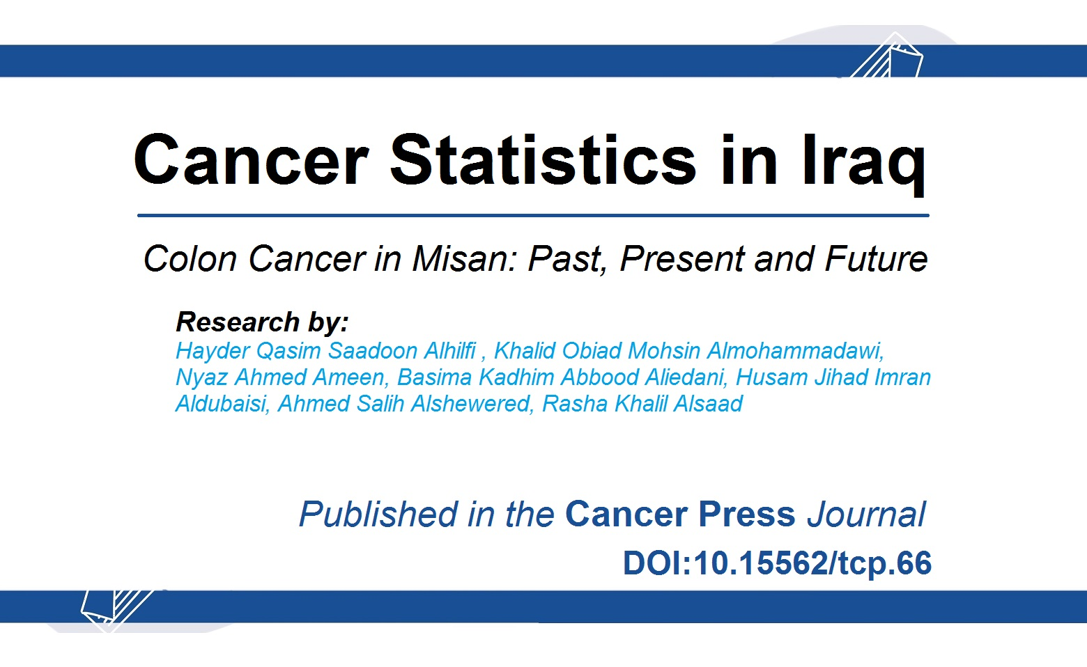 Cancer Statistics in Iraq