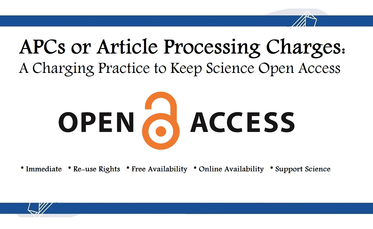 Article Processing Charges or APCs