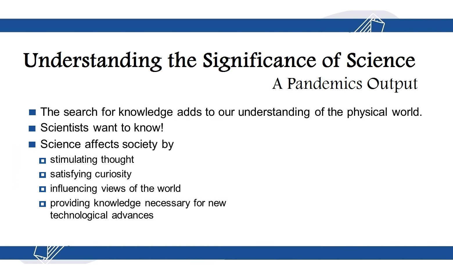 significance of science during covid19