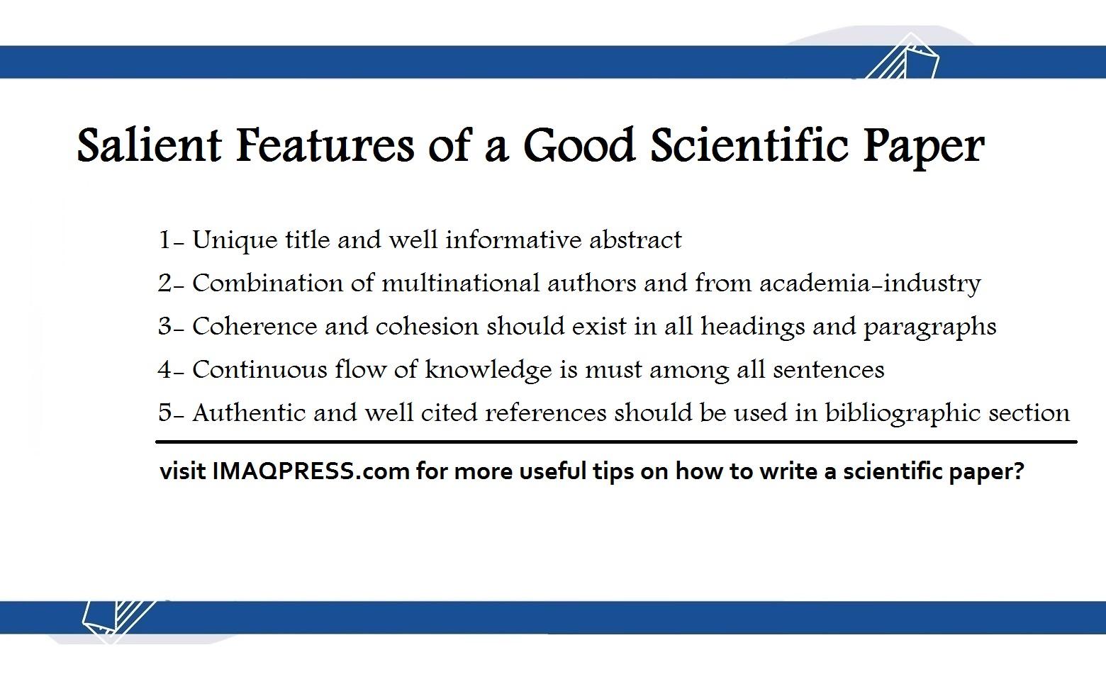 Good Scientific Paper
