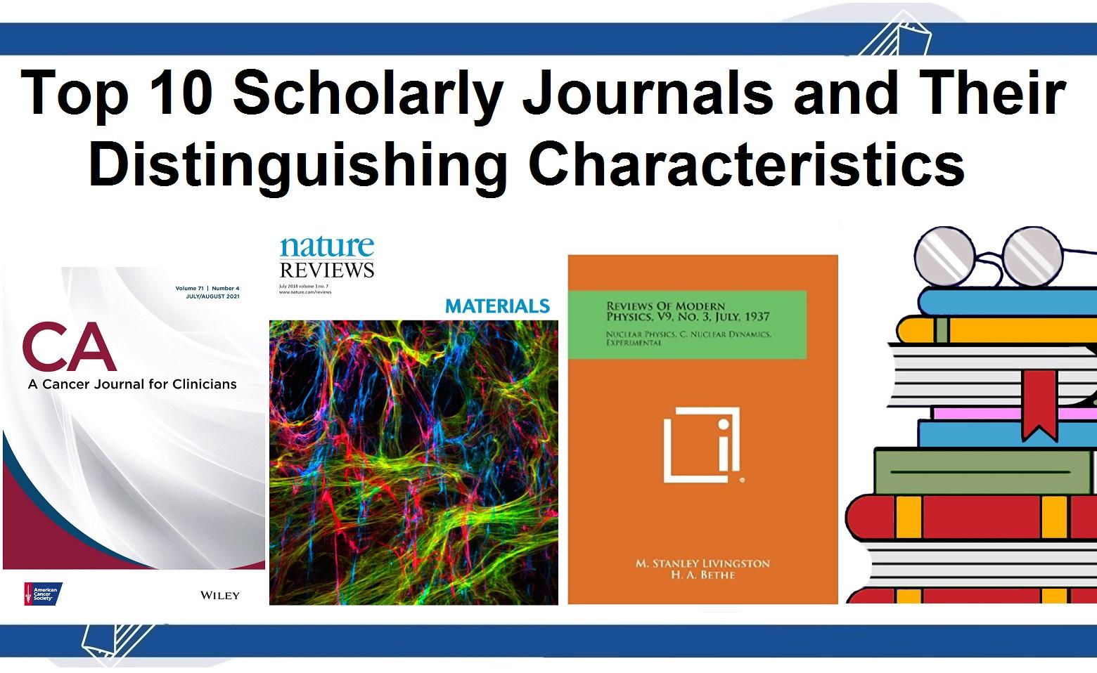 top 10 scientific journals